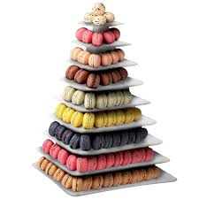 matfer bourgeat 681590 9 tier clear macaroon pyramid display stand
