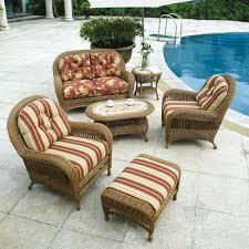 Patio Furniture With Sunbrella Cushions Chaise Lounges Furniture Wicker Chaise Lounge With White Cushion