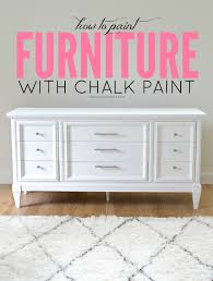 Upcycle Laminate Furniture - how to paint furniture with chalk paint and how to survive a diy