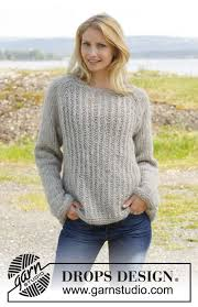 s sweater patterns knitted drops jumper with raglan and false rib worked top