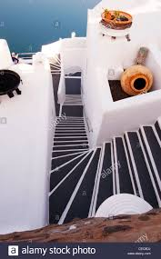 Looking Down Stairs by Looking Down Stairs Morning Fira Thira Santorini Greece