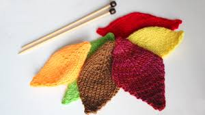 how to knit a leaf thanksgiving diy for beginning knitters