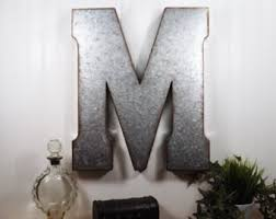 Decorative Letters For Walls Metal Wall Decor Letters Etsy Within Large Metal Letters For