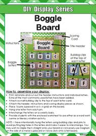 free diy display series boggle board by imaginative teacher tpt