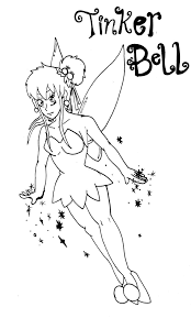tinkerbell christmas coloring pages kids