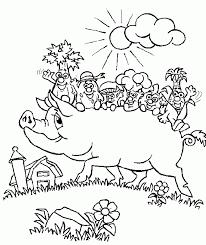 pig coloring pages coloringsuite com