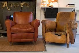 restaurer un canapé en cuir renovation fauteuil cuir intérieur déco