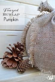 frayed burlap pumpkin country design style