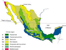 america climate zones map mexico s seven climate regions geo mexico the geography of mexico