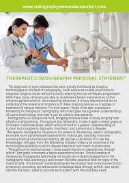 radiography personal statement examples