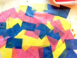 how to make tissue paper suncatchers easy kids crafts