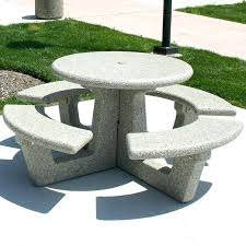round cement picnic tables cement picnic table forms image of concrete picnic tables round