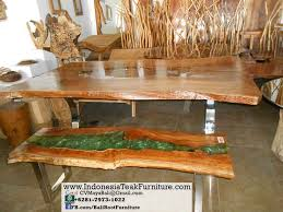 p7 natural curve dining table resin acrylic bali indonesia