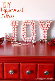 Holiday Decor Diy Diy Peppermint Joy Letters Christmas Craft I Dig Pinterest
