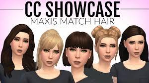 sims 4 maxis match cc hair the sims 4 maxis match cc hair w links cc showcase youtube