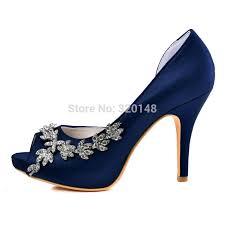 wedding shoes navy aliexpress buy woman high heel platform bridal wedding shoes