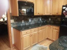 Slate Backsplash Kitchen Uba Tuba Granite Countertops 30 70 Stainless Steel Sink 3x6 Slatty