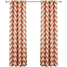 Grommet Chevron Curtains Orange Curtains U0026 Drapes Joss U0026 Main