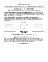 functional executive resume monster sle systems administrator experienced customer