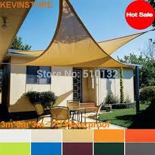 outdoor awning fabric free shipping 3x3x3m 160gsm triangle waterproof sun sail shade