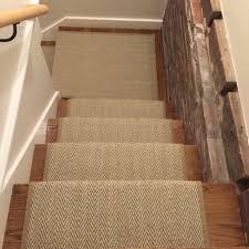 Sisal Stair Runner by Herringbone Stair Runner Loving This Custom Herringbone Stair