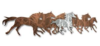 Equine Home Decor by All My Walls Wild Horses Wall Décor U0026 Reviews Wayfair