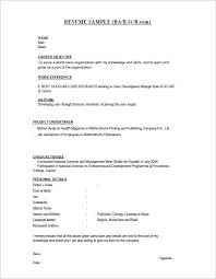 Job Objective On Resume by 28 Resume Templates For Freshers Free Samples Examples