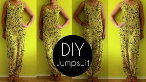 jumpsuit stitching pattern easy diy jumpsuit tutorial in 30min diy clothes youtube