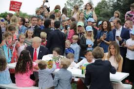 easter egg roll attendance how many were at trump u0027s vs obama u0027s
