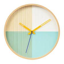 green flor wooden wall clock modern wall clocks