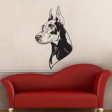 Great Dane Home Decor Online Get Cheap Doberman Wall Sticker Aliexpress Com Alibaba Group