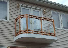 exteriors modern house balcony design clear glass window white