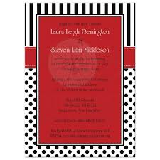 polka dot invitations wedding invitation black white polka dots and stripes