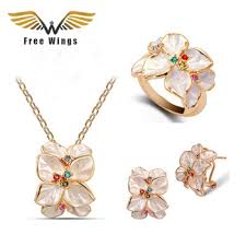 online shop vintage fashion rhinestone gold color plated jewelry