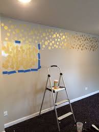 Sparkle Wall Decor Golden Stenciled Bedroom Wall Hometalk