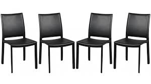 chaise pas cher chaises en pvc noir design 4 chaises design pas cher