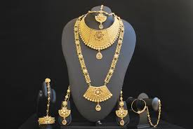 bridal jewelry necklace set images Chandra nandini helena 39 s bridal jewellery set in gold tone jpg