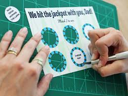 how to make a scratch card for s day hgtv
