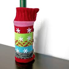 knit christmas jingle bell knit christmas sweater wine bottle cover the