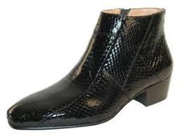 s heel boots size 11 giorgio brutini tuscon black snakeskin cuban heel zipper dress