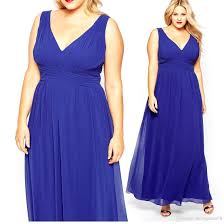 royal blue a line bridesmaid dresses v neck ruffle sleeveless