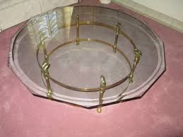 brass swan coffee table la barge brass swan coffee table
