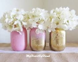 jar table decorations baby shower jar set ombre jars baby pink and