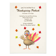 thanksgiving potluck invitations announcements zazzle co nz