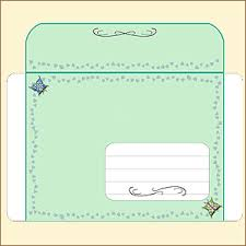 Decorated Envelopes Free Butterfly Envelopes With Art Nouveau Decorations