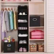 amazon com hanging closet organizer magicfly 6 shelf hanging