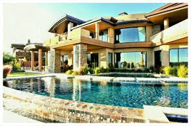Large Luxury House Plans Spectacular Home Design With Square Pool Featuring Awesome White