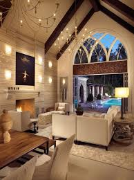 living room decorating ideas with vaulted ceilings