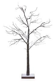 48 led lighted poseable snowy brown leafless twig tree
