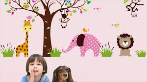 lion monkey turtle removable kid room wall stickers youtube lion monkey turtle removable kid room wall stickers